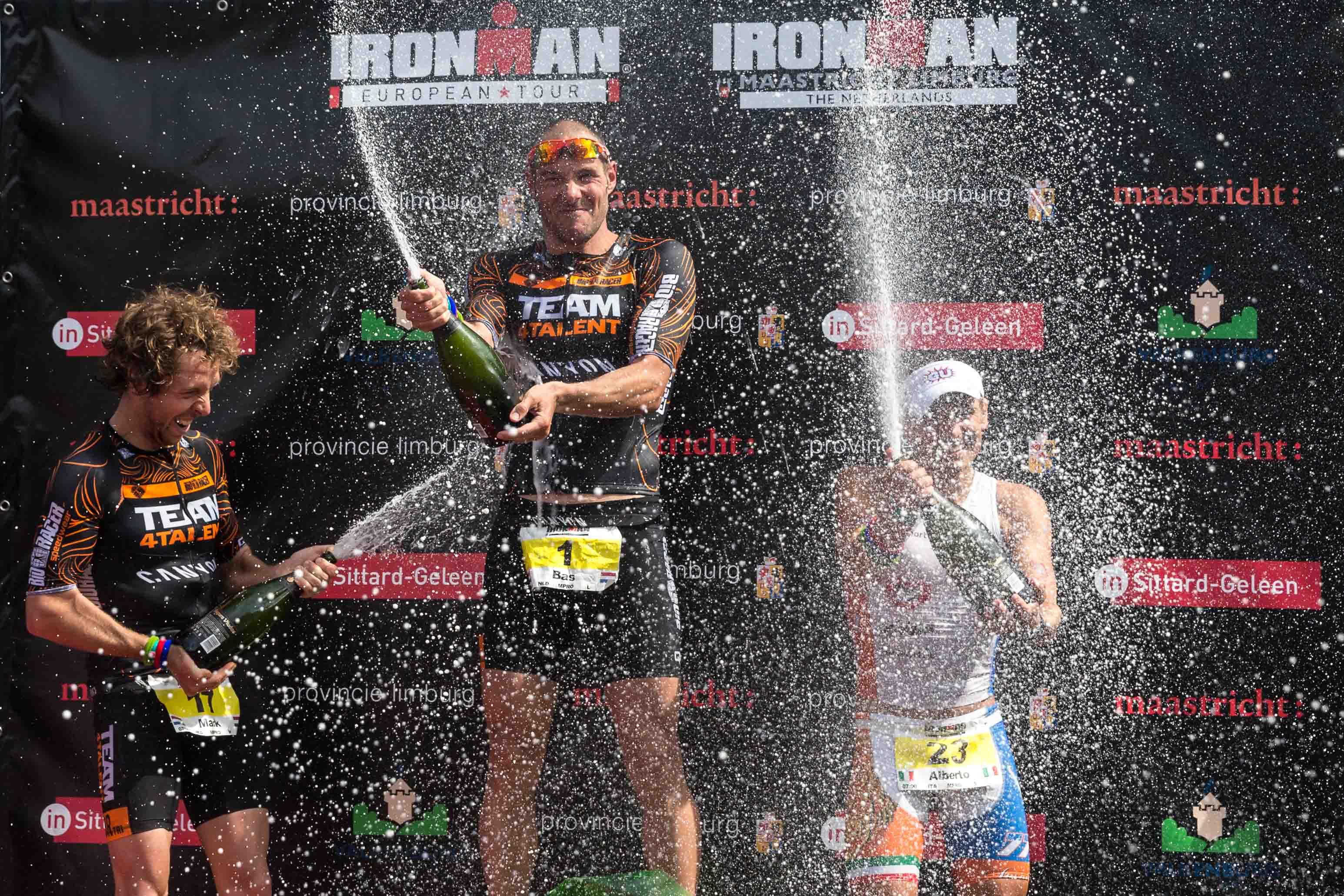 Ironman Maastricht 2015 podium flower ceremony
